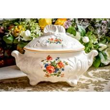 ITALIŠKOS keramikos indas su dangčiu