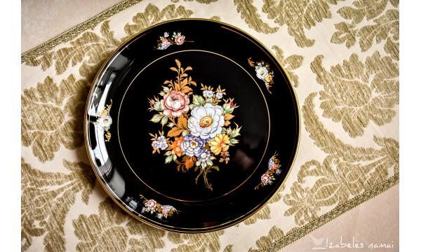 GRAIKIŠKOS keramikos, auksu dekoruota lėkštė (kabinama)