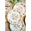 WINTERLING švelniai kreminio porceliano lėkštelės šaltiems užkandžiams / desertams, 6 vnt.