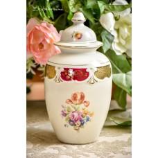 OSCAR SCHLEGELMILCH kreminio porceliano vaza su dangčiu