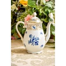 SCHUMANN BAVARIA balto porceliano virdulys, dekoruotas kobaltu