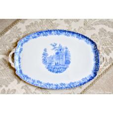 ROSSLAU ALT ENGLAND balto porceliano padėklas
