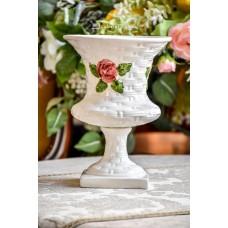 ITALIŠKA, didelė, rankų darbo keramikos vaza