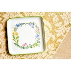 LUISENBURG BAVARIA balto porceliano, rankomis tapyta lėkštė su borteliu