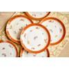 HACKEFORS balto porceliano šaltų užkandžių / deserto lėkštės, 6 vnt.