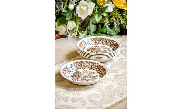 WOODS BURSLEM ENGLAND angliško porceliano dubenėliai, 6 vnt.