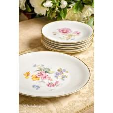 HEINRICH balto porceliano lėkščių komplektas 6 + 1