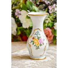 ROSENTHAL balto porceliano, rankomis tapyta vazelė