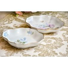 HUTSCHENREUTHER balto porceliano, rankomis tapyti dubenėliai