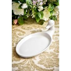 STILIZUOTAS balto prancūziško porceliano padėklas