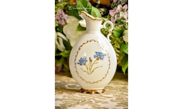 HACKEFORS balto švediško porceliano vaza - ąsotėlis