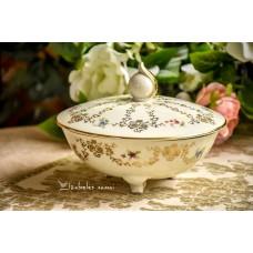 ALKA bavariško, kreminio porceliano indas su dangčiu / saldaininė