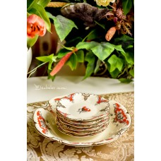 SCHUMANN BAVARIA porceliano lėkštelių komplektas, 6 + 1