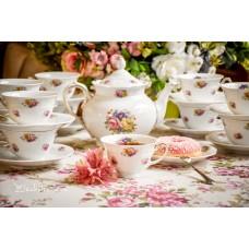 ROSENTHAL balto bavariško porceliano puodelių servizas