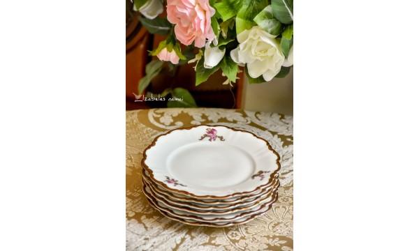 HACKEFORS balto porceliano lėkštelės, 6 vnt.