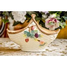 RANKŲ darbo keramikos krepšelis
