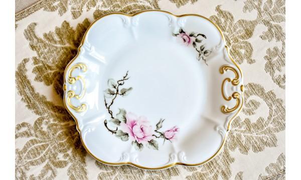 HACKEFORS balto porceliano padėklas