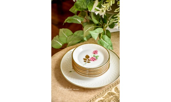 WINTERLING balto porceliano deserto lėkštelių komplektas 6+1