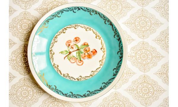 CHODZIEZ vintažinė porceliano didelė lėkštė