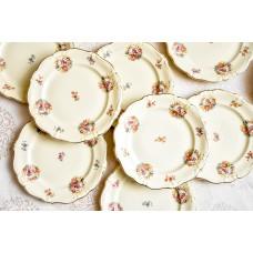 ROSENTHAL POMPADOUR kreminio porceliano deserto lėkštės, 5 vnt.