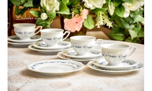 ROSENTHAL CLASSIC ROSE balto porceliano komplektas kavai / arbatai