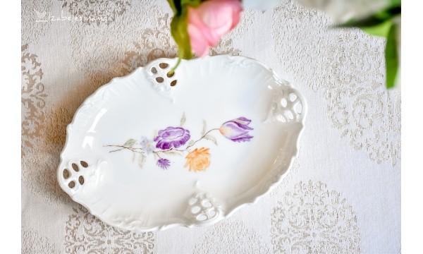 ROSENTHAL MOLIERE rankomis tapytas, balto porceliano padėkliukas